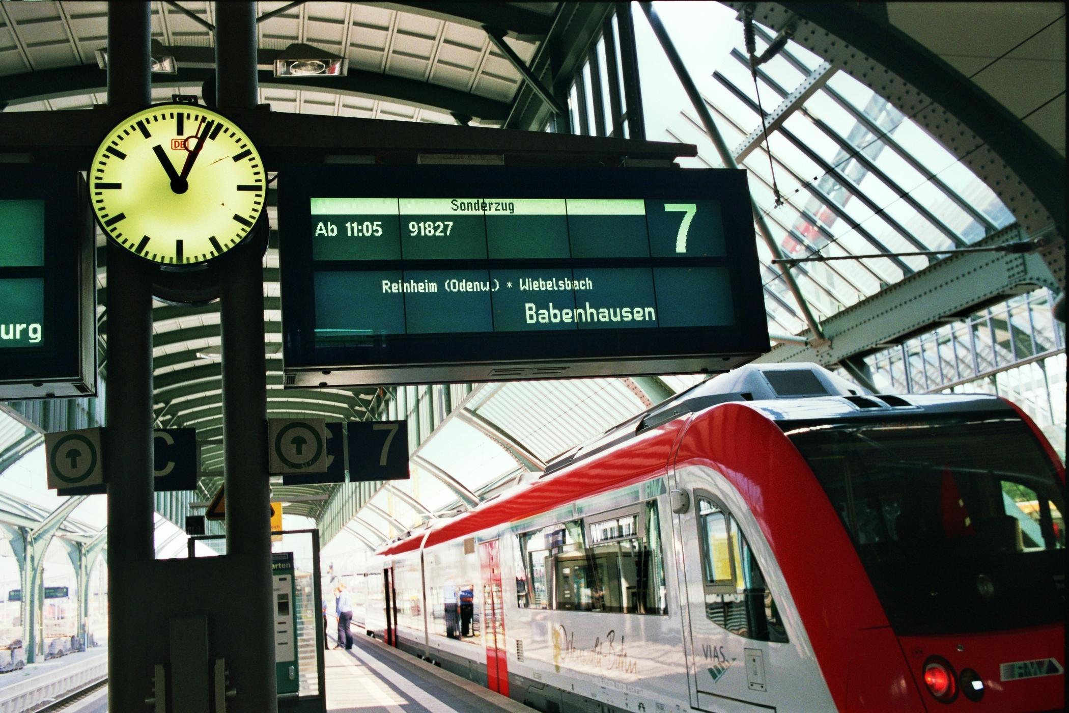 Vor dem Start am Hauptbahnhof