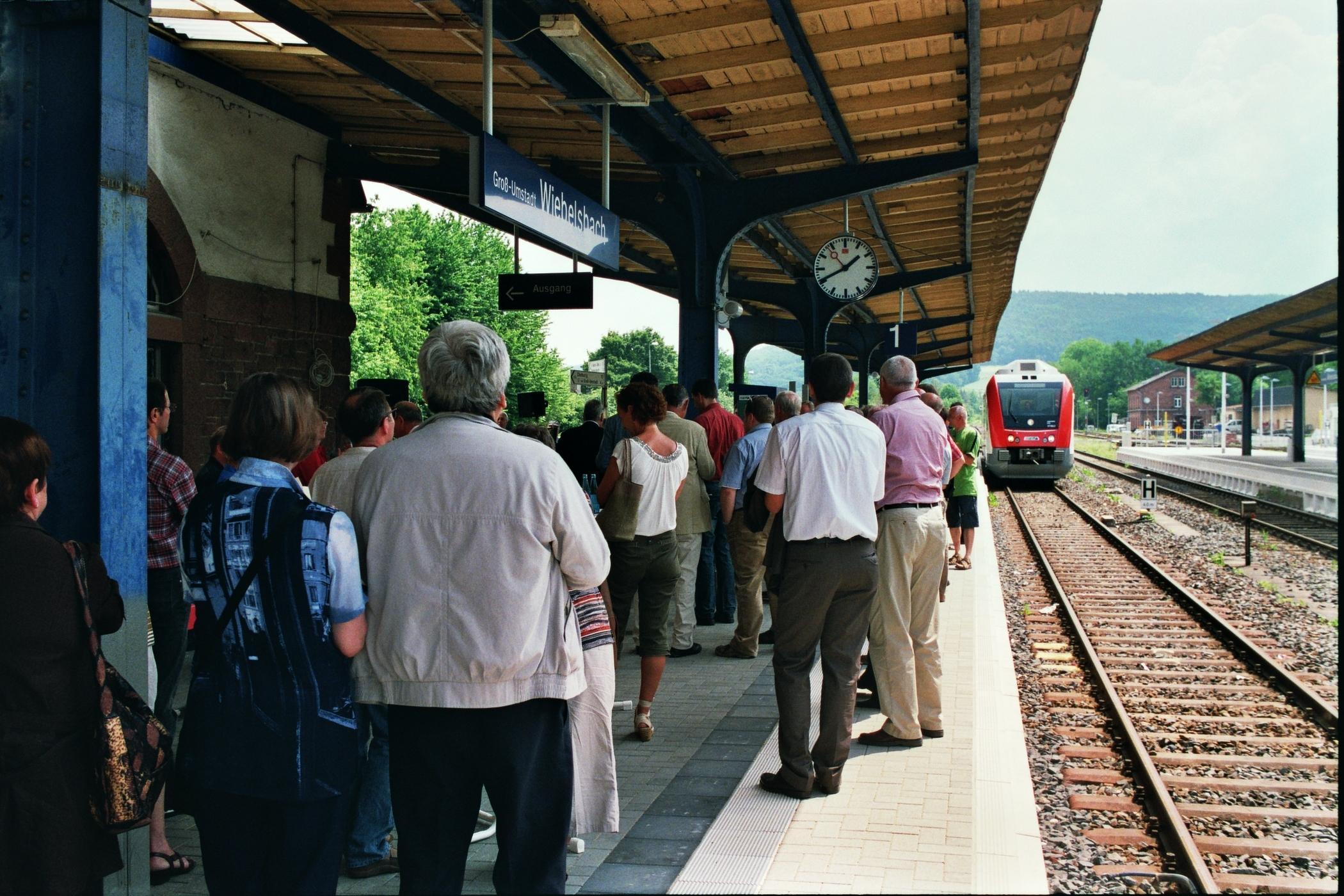 Bahnsteig in Groß-Umstadt - Wiebelsbach