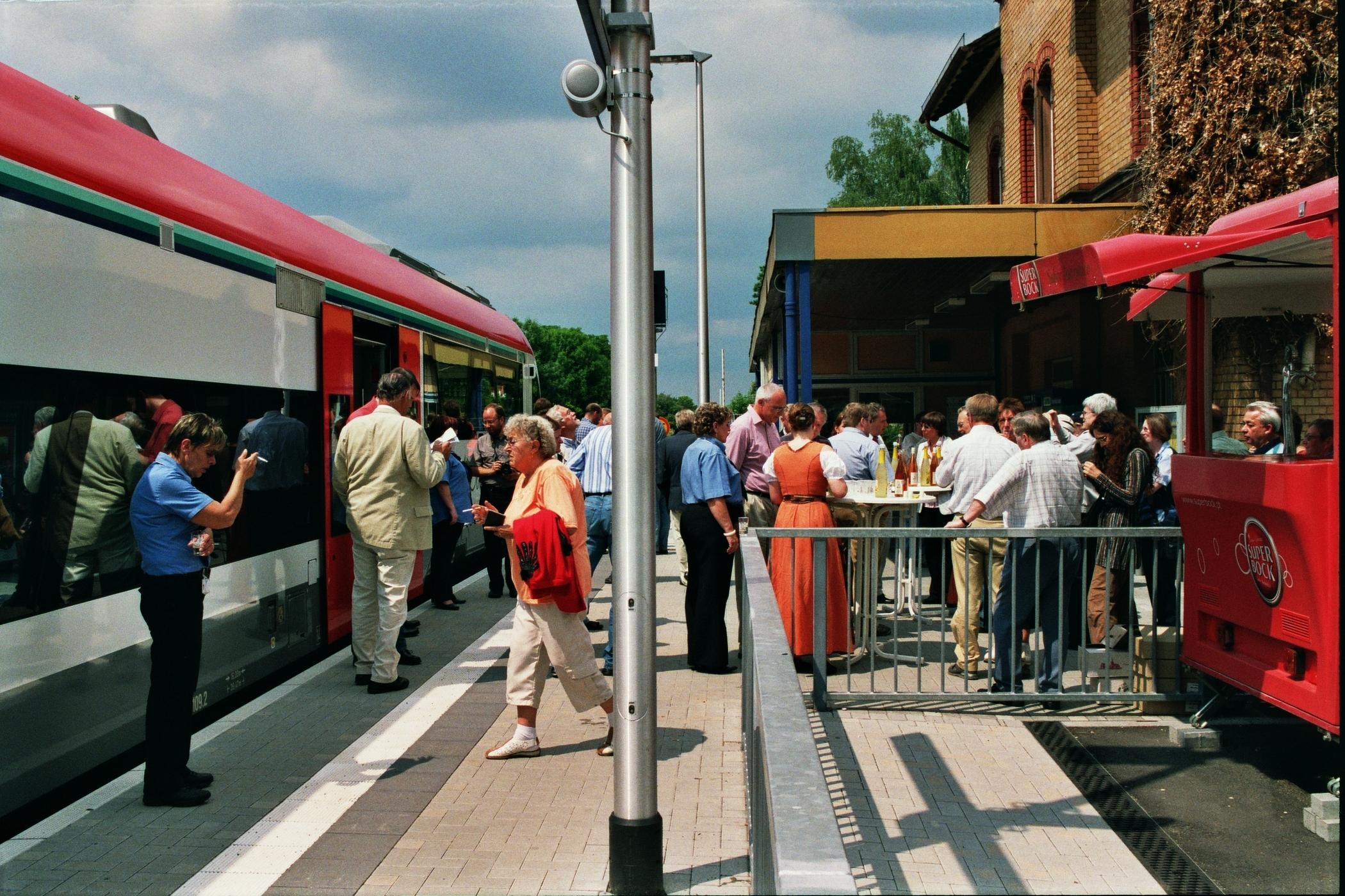 Station Groß-Umstadt vor der Weiterfahrt des Sonderzuges
