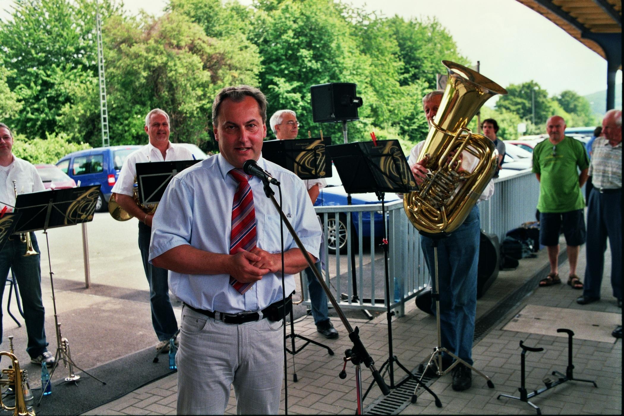 Stimmungsvoller Empfang und Ansprache von Bürgermeister Joachim Ruppert in Groß-Umstadt